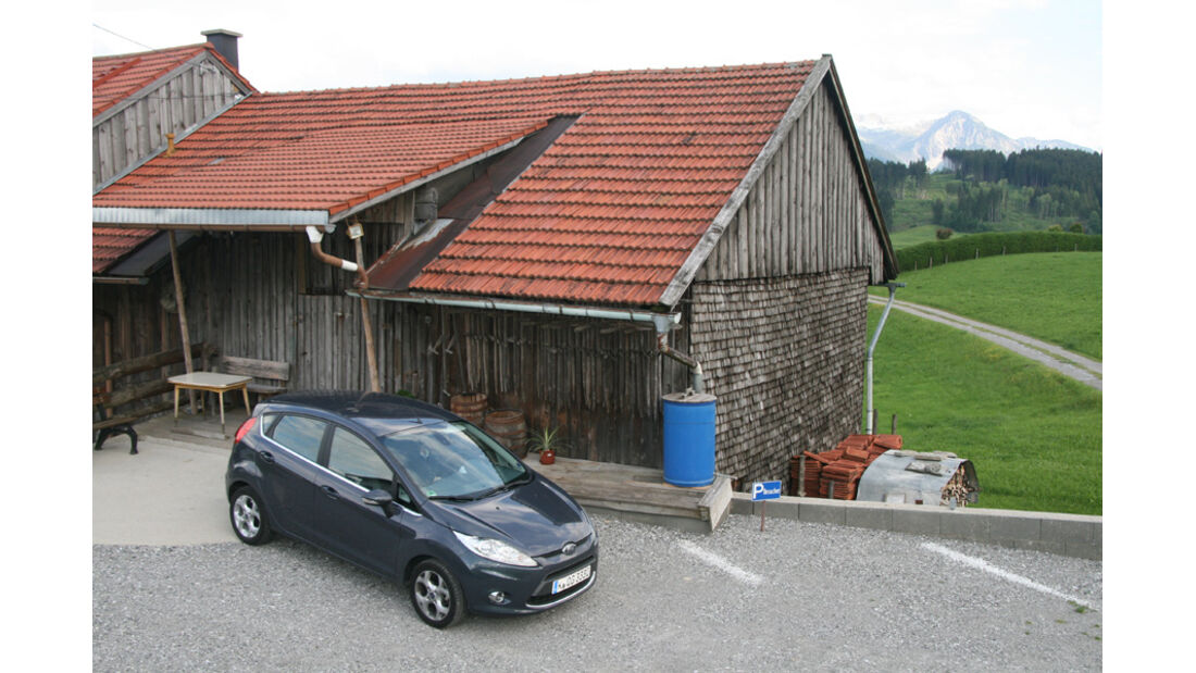 Ford Fiesta 1.4, Seitenansicht, Parken