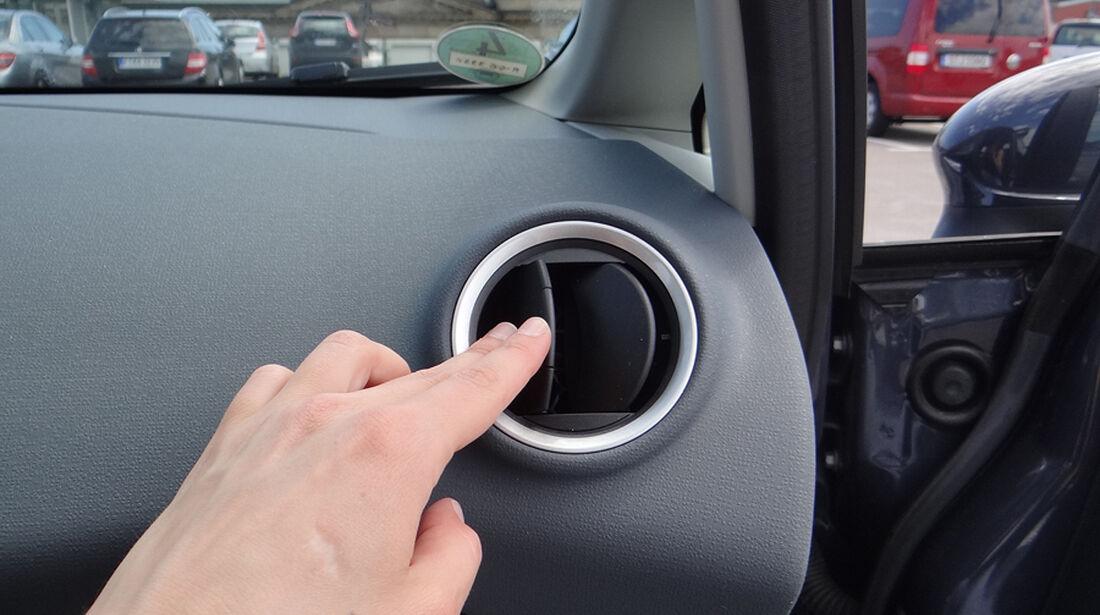 Ford Fiesta 1.4 im Innenraum-Check, Belüftung