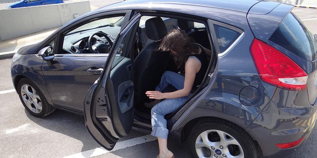 Ford Fiesta 1.4 im Innenraum-Check, Fond