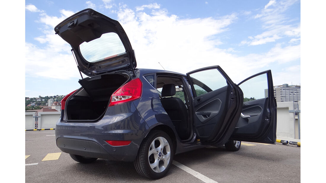 Ford Fiesta 1.4 im Innenraum-Check, Heck