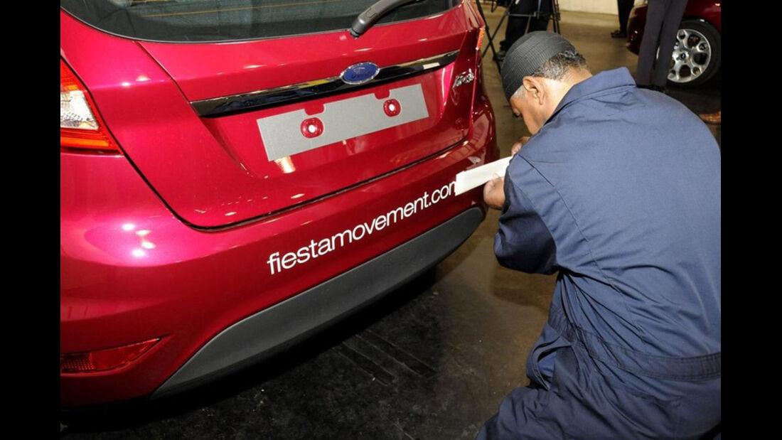 Ford Fiesta, Beschriftung Testmodell