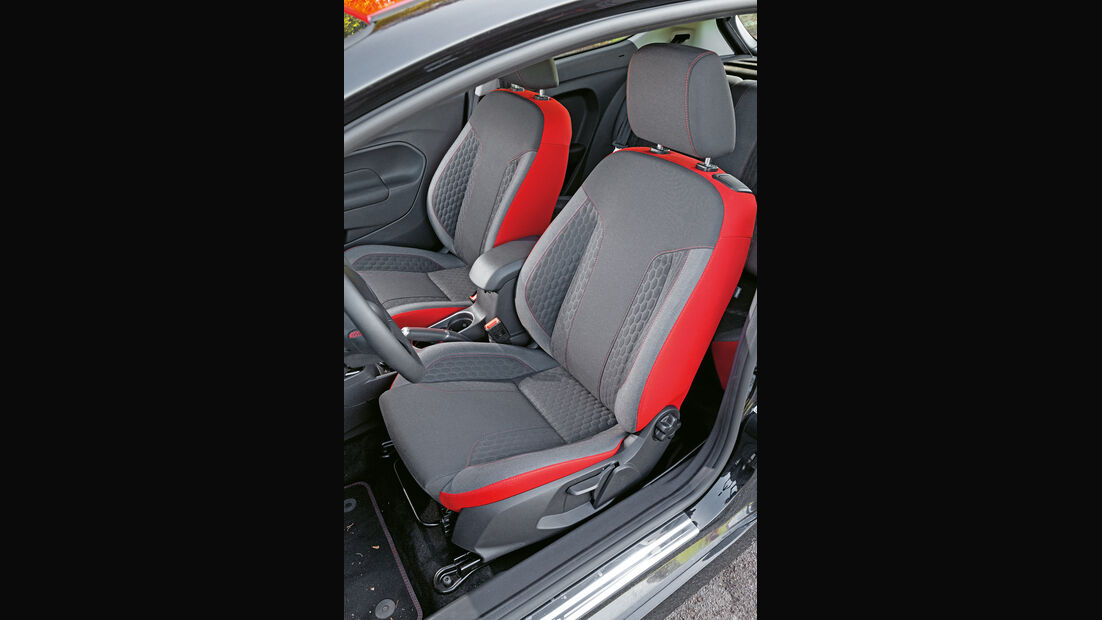 Ford Fiesta Black Edition, Fahrersitz