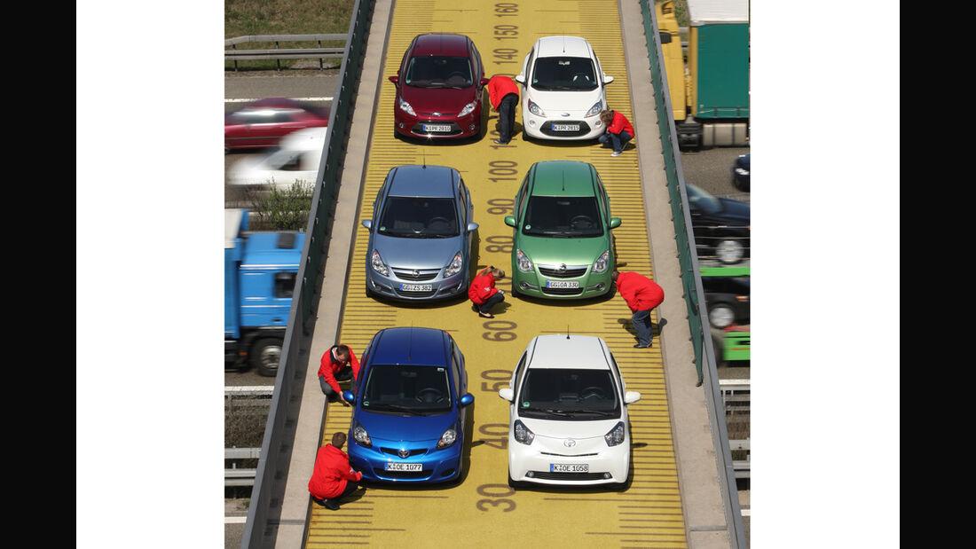 Ford Fiesta, Ford KA, Opel Agila, Opel Corsa, Toyota iQ, Toyota Aygo