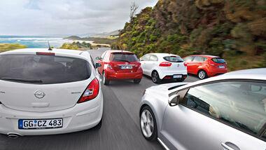 Ford Fiesta, Kia Rio, Opel Corsa, Toyota Yaris, VW Polo