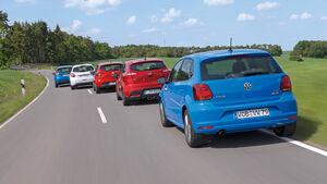 Ford Fiesta, Kia Rio, Peugeot 208, Renault Clio, VW Polo, Heckansicht