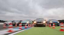 Ford Fiesta, Opel Corsa, Renault Clio, Skoda Fabia, VW Polo, Frontansicht