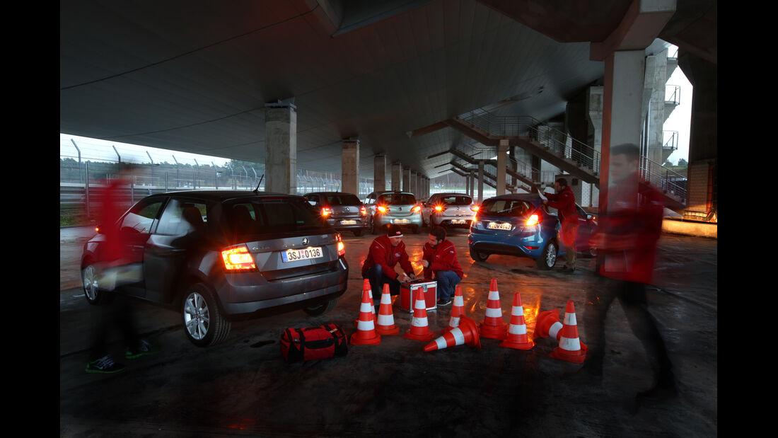 Ford Fiesta, Opel Corsa, Renault Clio, Skoda Fabia, VW Polo, Tester