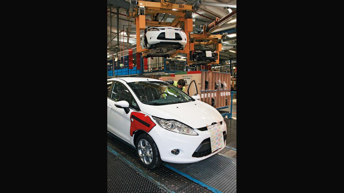 Ford Fiesta, Produktion, Förderbänder, fertig