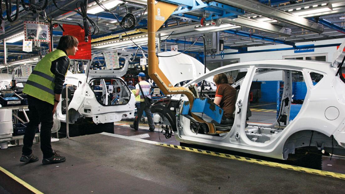 Ford Fiesta, Produktion, Karosserie, Endmontage