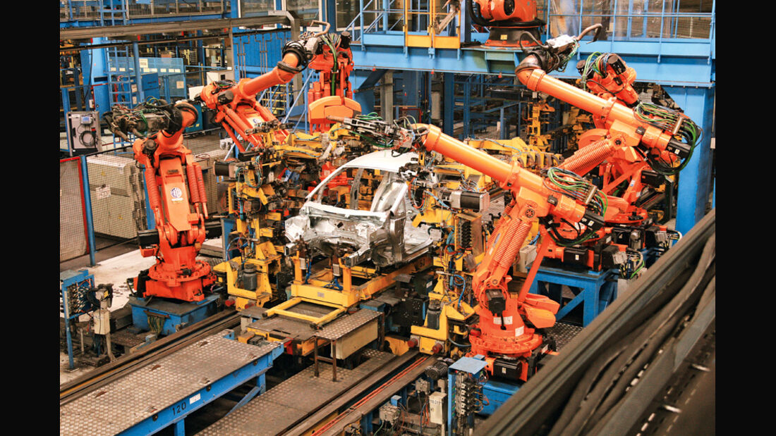 Ford Fiesta, Produktion, Karosserie, Roboter