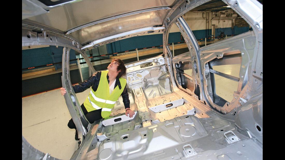Ford Fiesta, Produktion, Karosserie, Sichtprüfung