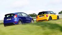 Ford Fiesta ST, Mini Cooper S, Heckansicht