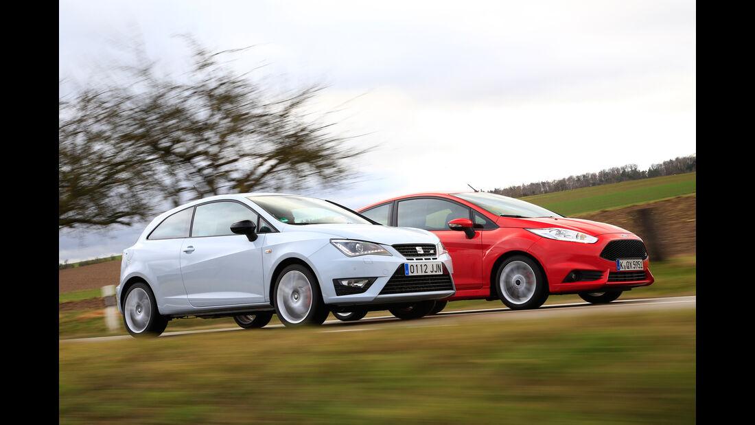 Ford Fiesta ST, Seat Ibiza Cupra, Seitenansicht