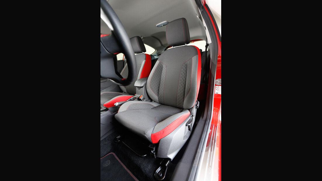 Ford Fiesta Sport, Fahrersitz