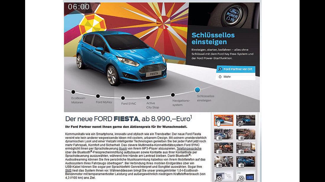 Ford Fiesta, Werbung