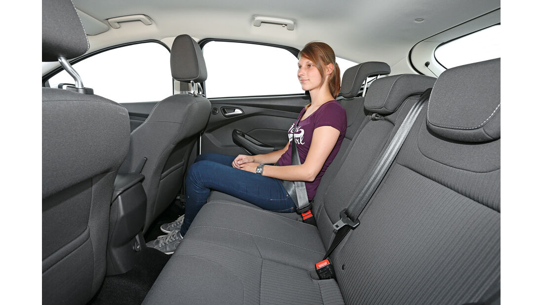Ford Focus 1.0 Ecoboost, Fondsitz, Beinfreiheit