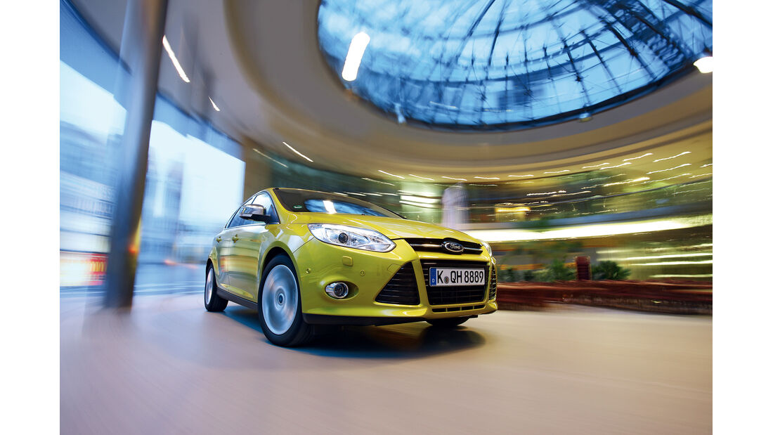 Ford Focus 1.0 Ecoboost, Frontansicht, Kühlergrill