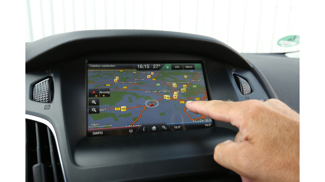 Ford Focus 1.0 Ecoboost, Navi, Bildschirm