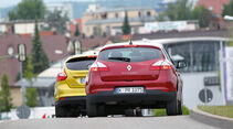 Ford Focus 1.0 Ecoboost, Renault Mégane TCe 130, Heckansicht