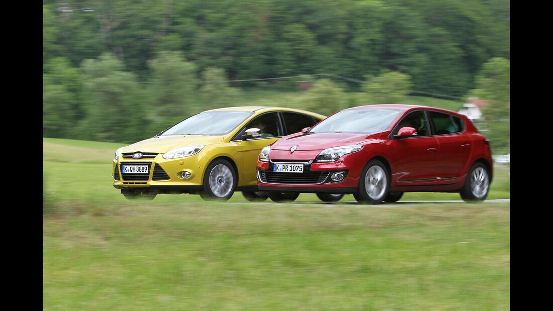 Ford Focus 1.0 Ecoboost, Renault Mégane TCe 130, Seitenansicht