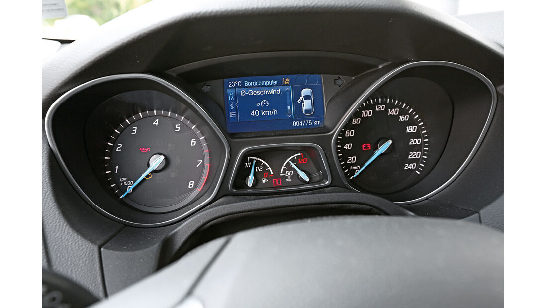 Ford Focus 1.0 Ecoboost, Rundinstrumente
