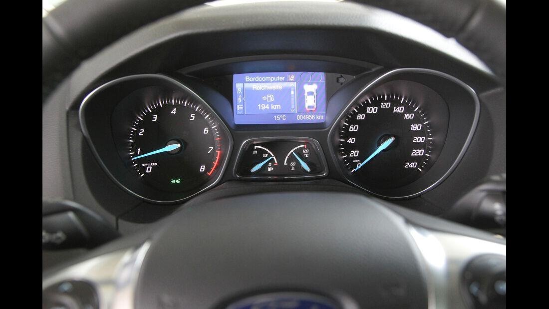 Ford Focus 1.0 Ecoboost, Rundinstrumente, Tacho
