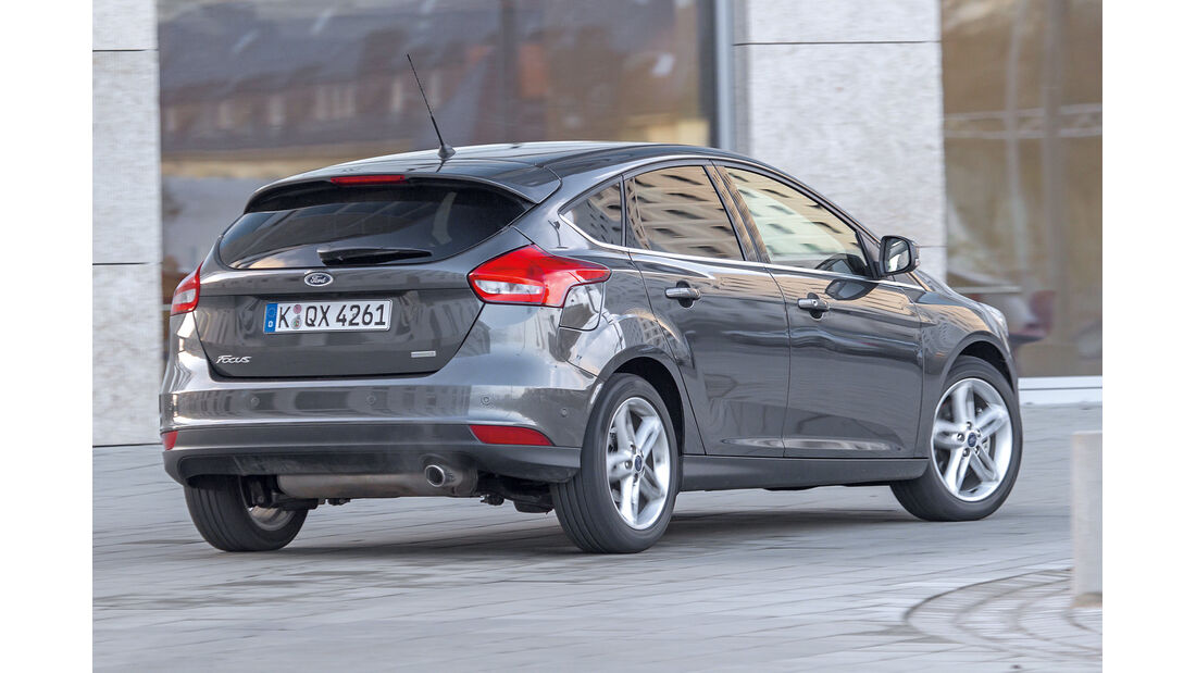 Ford Focus 1.5 Ecoboost, Heckansicht