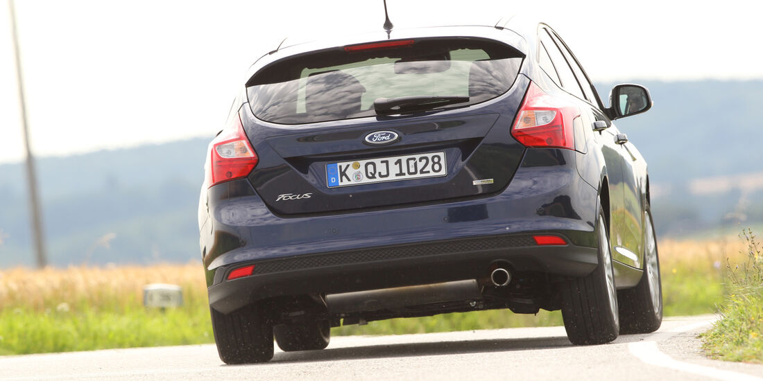 Ford Focus 1.6 Ecoboost, Heckansicht