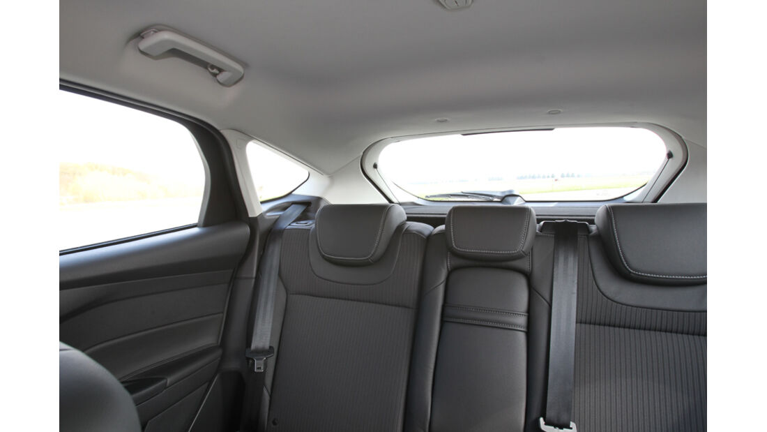 Ford Focus 1.6 Ecoboost, Rückraum