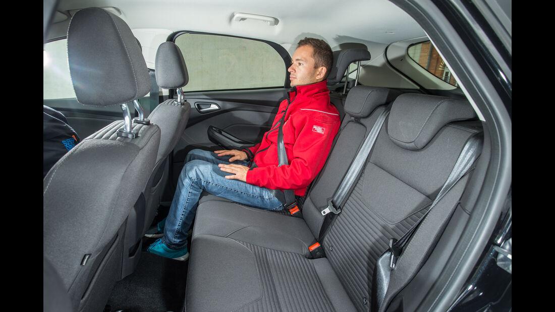Ford Focus 2.0 TDCi, Fondsitz, Beinfreiheit