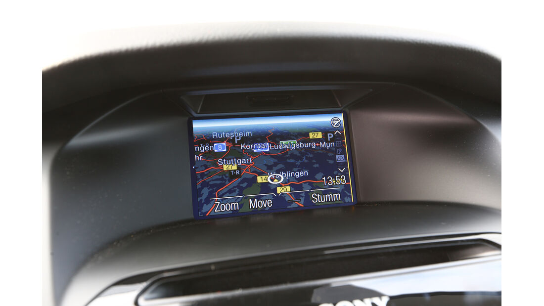 Ford Focus 2.0 TDCi, Navi, Bildschirm