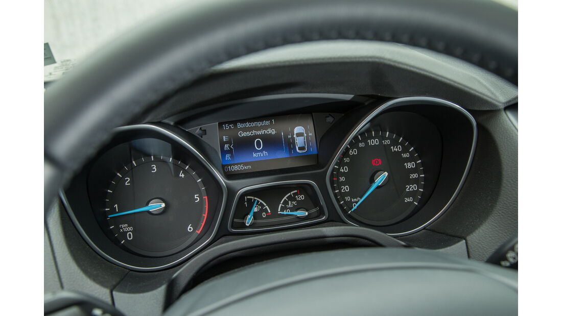 Ford Focus 2.0 TDCi, Rundinstrumente