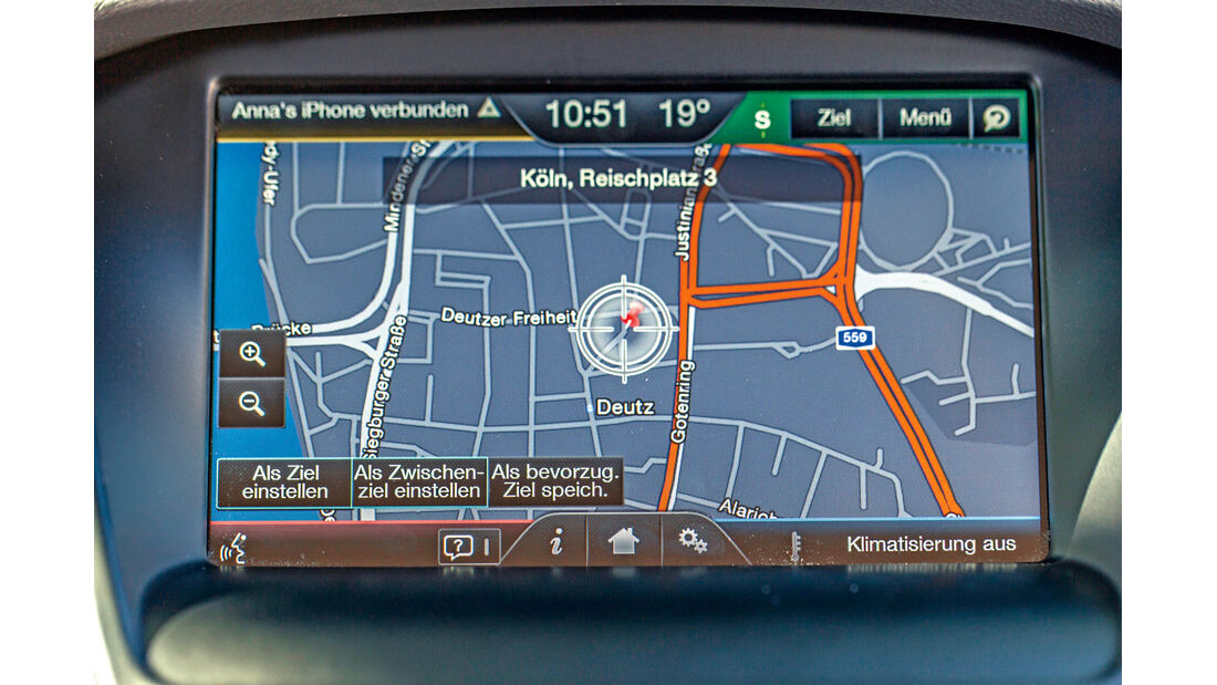 Ford Focus, Bildschirm