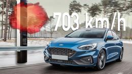 Ford Focus Bussgeldbescheid 703 km/h