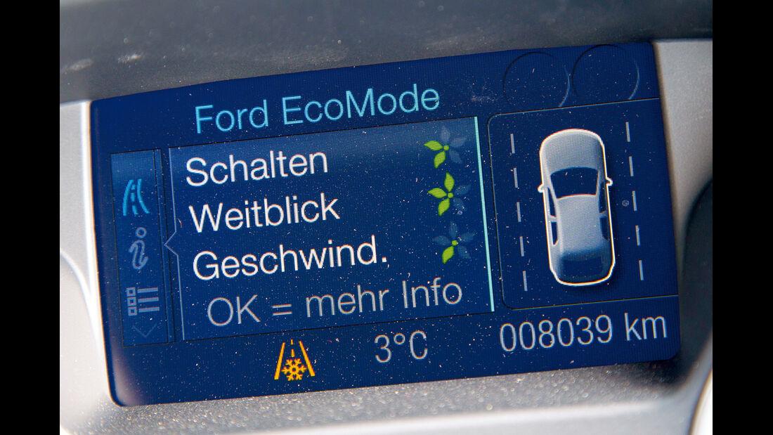 Ford Focus Econetic, Bordcomputer, Display