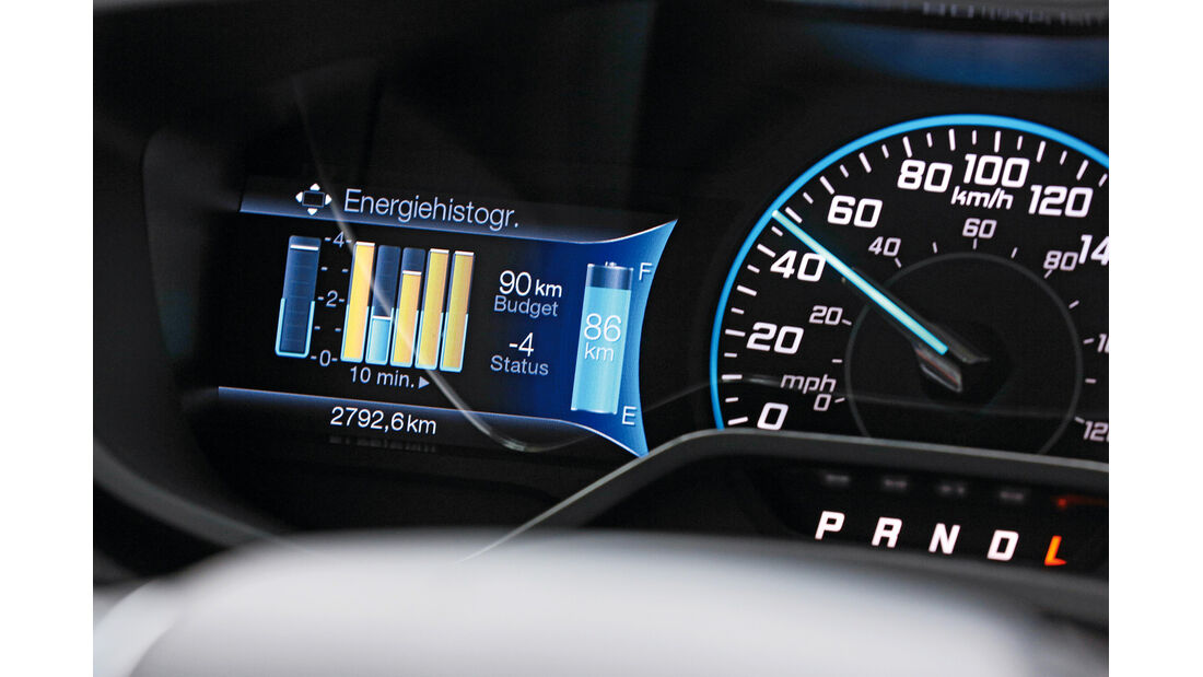 Ford Focus Electric, Anzeige, Monitor