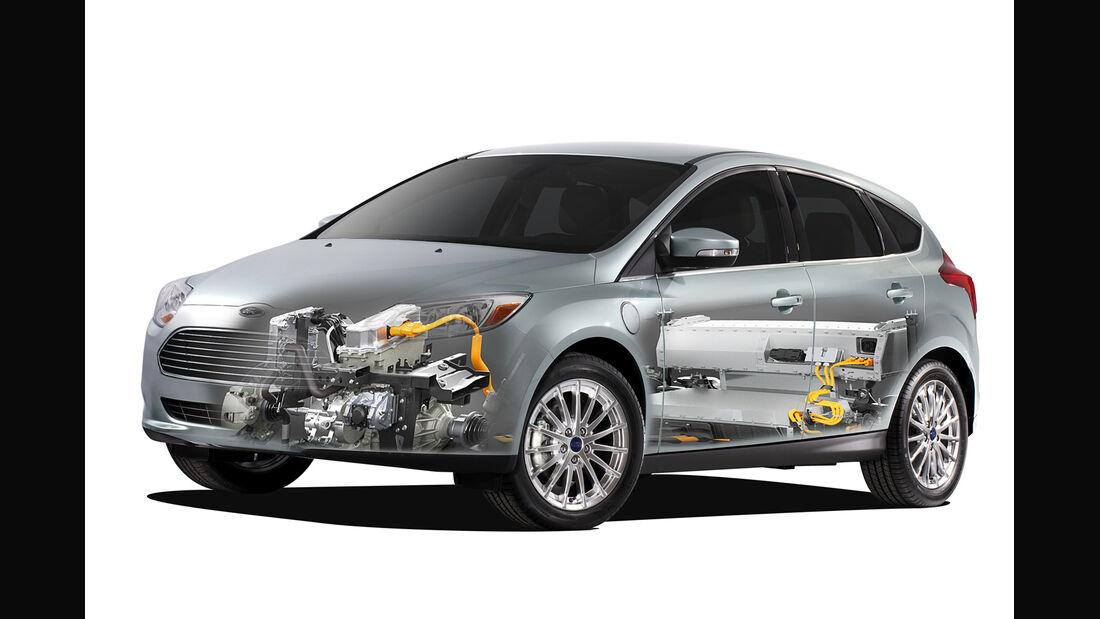 Ford Focus Electric, Frontansicht, Grafik