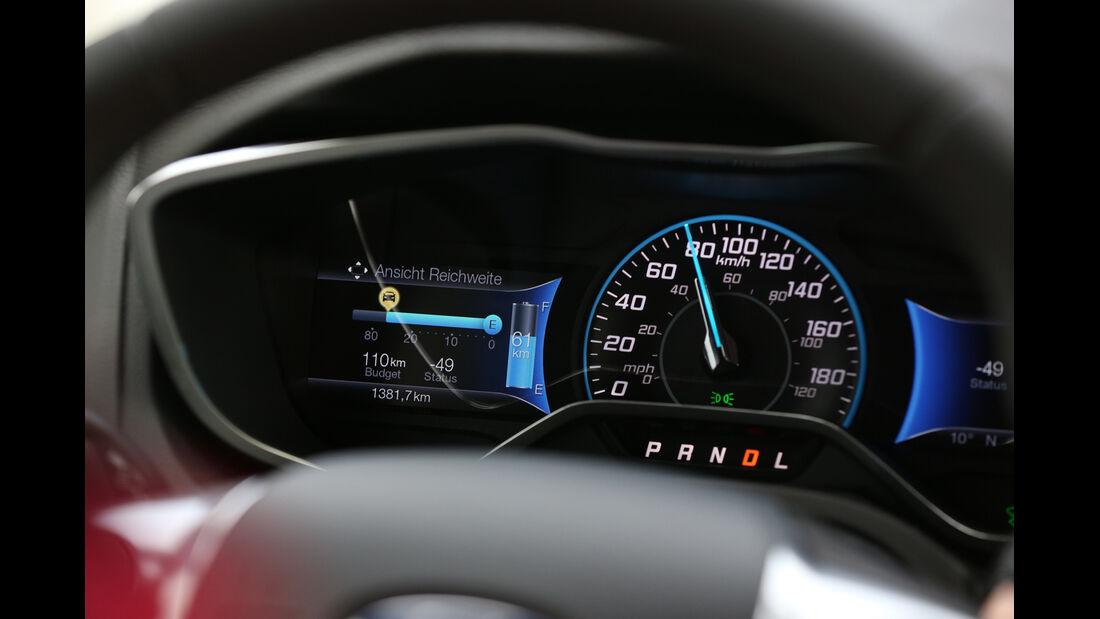 Ford Focus Electric, Rundinstrumente, Anzeigen