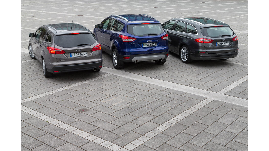 Ford Focus, Ford Mondeo, Ford Kuga, Heckansicht