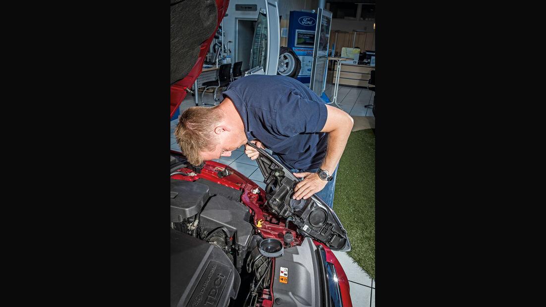 Ford Focus, Motorraum