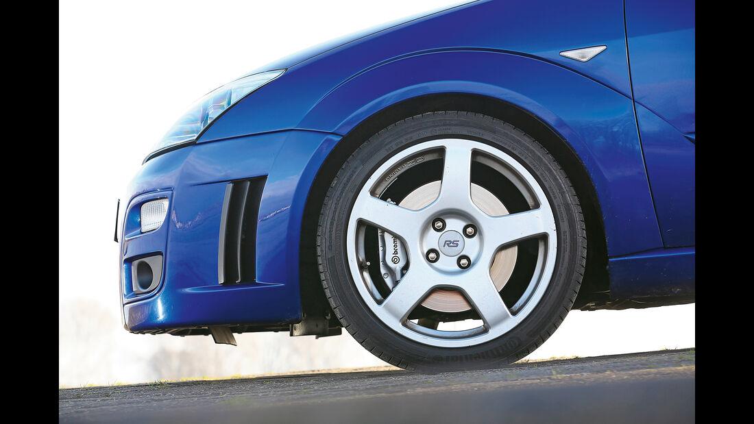 Ford Focus RS (2002), Rad, Felge