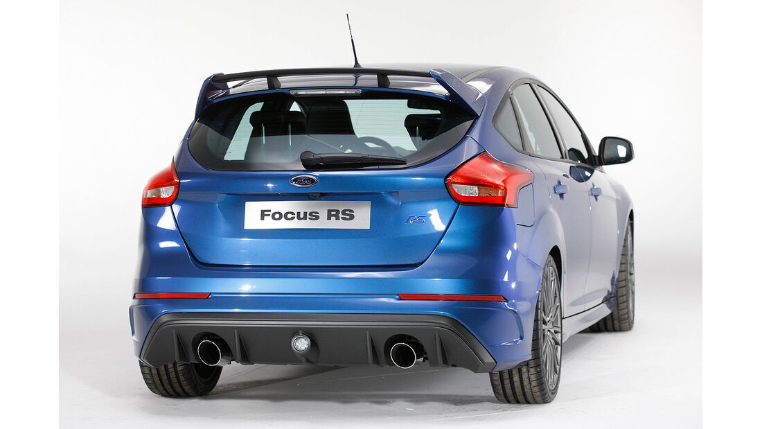 Ford Focus RS 2015, Heck, Diffusor, Nebelschlussleuchte