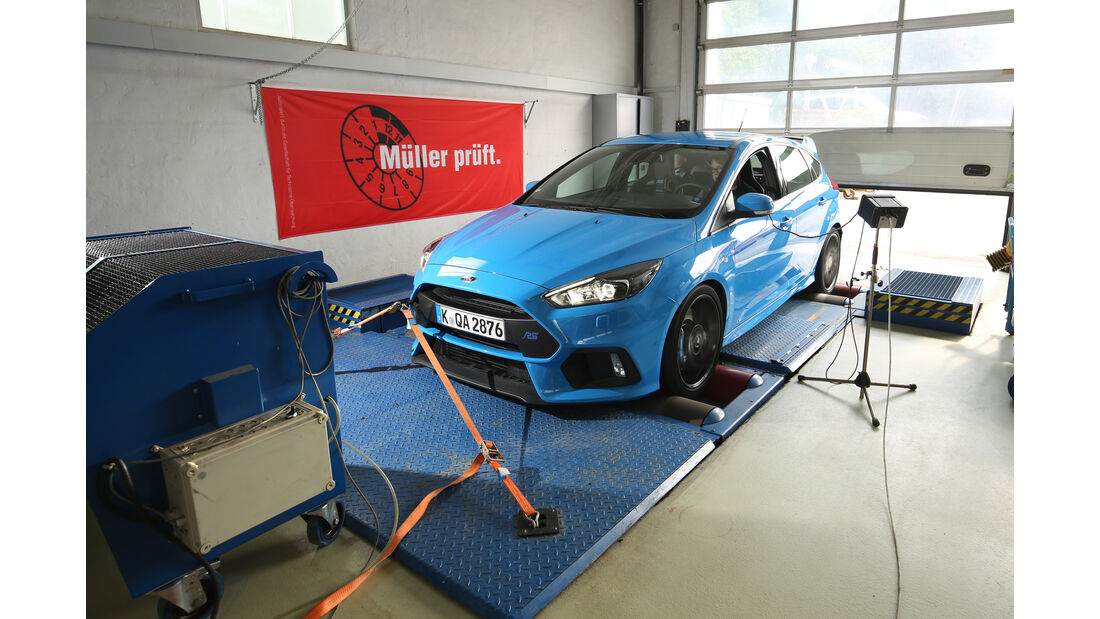 Ford Focus RS, Prüfstand