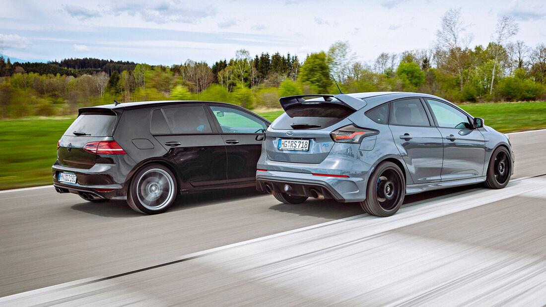 Ford Focus RS, VW Golf R, Exterieur