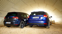 Ford Focus ST 2.0 TDCi, VW Golf GTD, Heckansicht