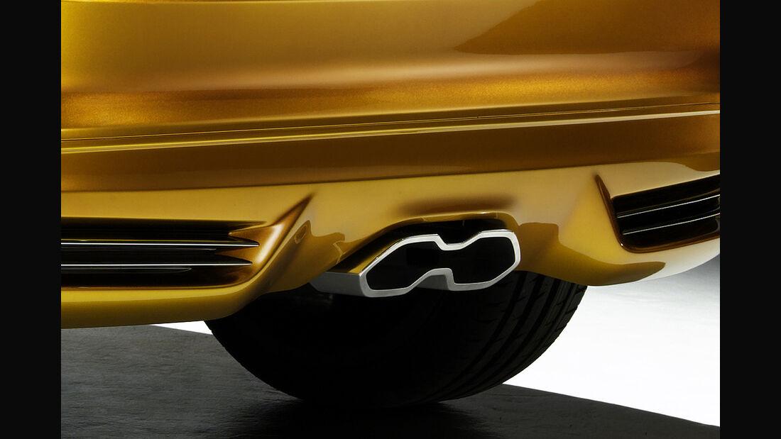 Ford Focus ST 2011, Auspuff