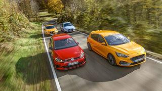 Ford Focus ST, Hyundai i30 N Performance, Renault Mégane R.S. Trophy, VW Golf GTI TCR, Exterieur
