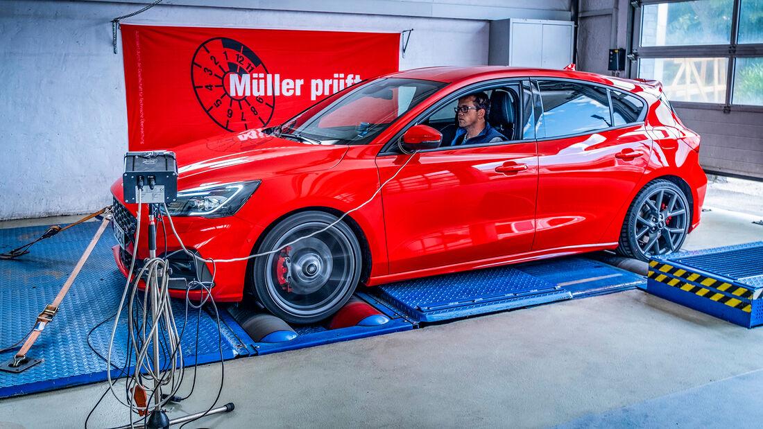 Ford Focus ST, Leistungsmessung