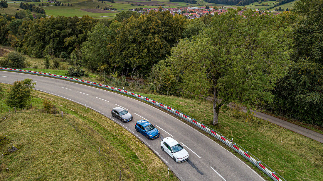 Ford Focus ST, Mercedes A 250, VW Golf GTI