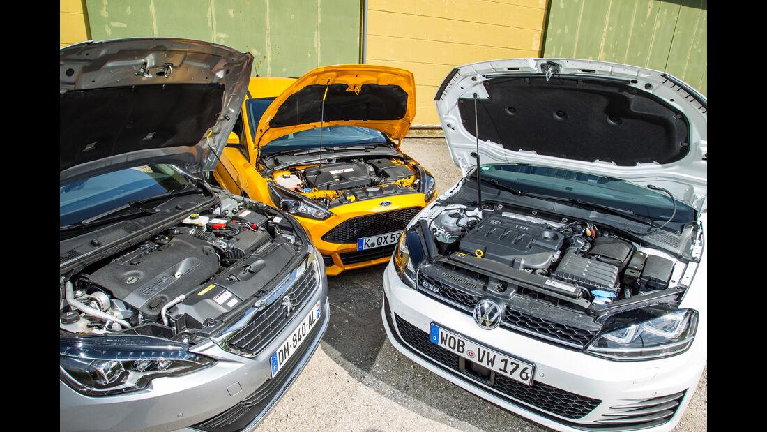 Ford Focus ST Turnier 2.0 TDCi, Peugeot 308 SW GT HDi 180, VW Golf Variant GTD